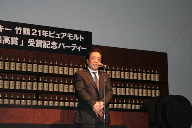 写真: ニッカウヰスキー代表取締役会長 山下弘氏