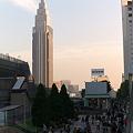 写真: 時計塔の夕景