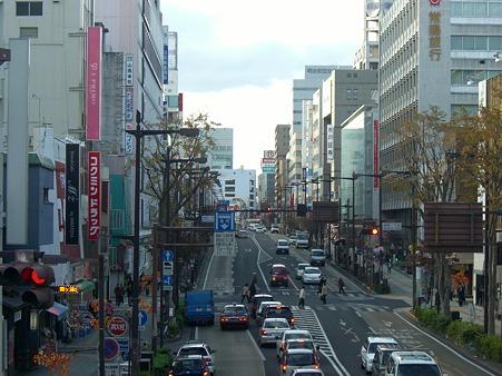 水戸中央郵便局前歩道橋