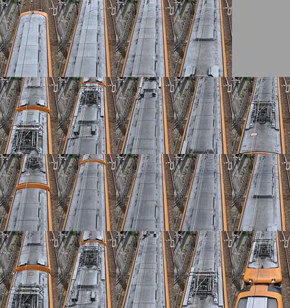 近鉄12400系12401F(NN01)屋根上(伊勢方より撮影) 2010.08.07