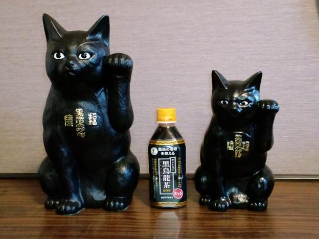 写真: 黒猫大明神の張り子猫さん。...