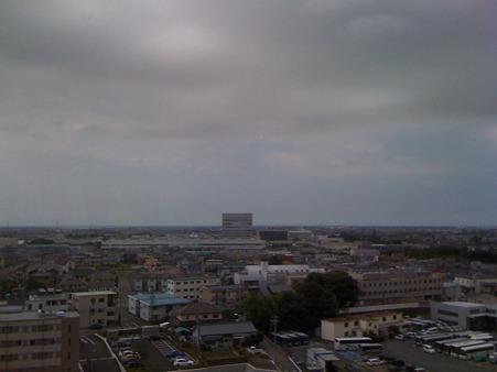 ホテルからの眺めYAMAHA工場
