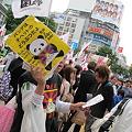 写真: 2パンダはチベット産のデモ?