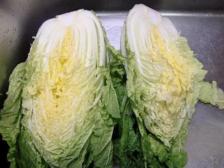 白菜1個丸ごとお鍋に入っちゃった!でもね~ほとんど残らなかった!(爆)