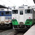 会津若松駅で並ぶキハ40系