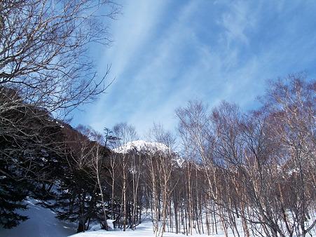 白根山を望む