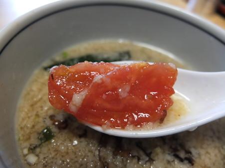 らあめん花果山 背脂つけ麺(夏季&平日限定) 具材の様子