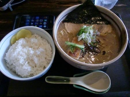 らぁめん道場 黒帯 醤油ラーメン+ライス大