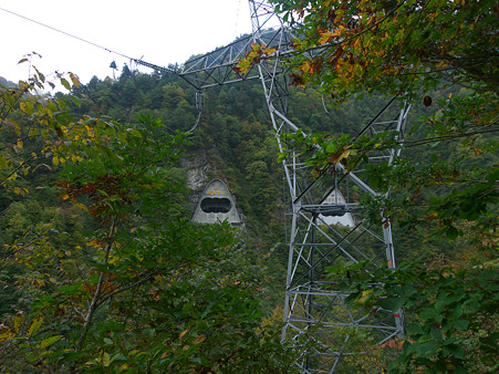 黒四発電所送電線出口