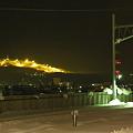 ホームから望むスキー場