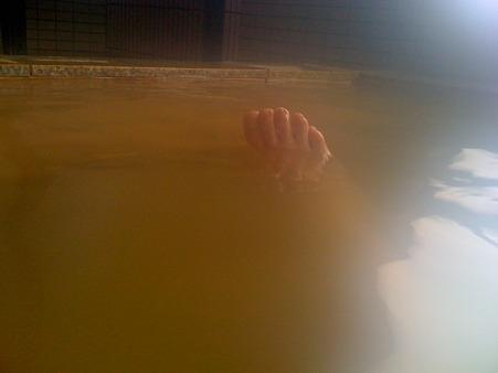 安比豊畑温泉 フロンティアの湯 my right foot...