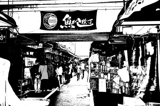 築地市場の魚がし横丁_DSC_2672