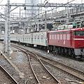 Photos: EF81 140+常磐緩行線203系100番台 マト61編成 配給回送