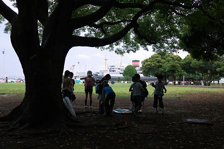 2010.06.23 山下公園 雨宿り