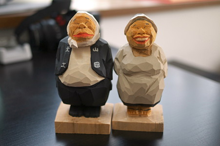 2011.05.09 箱根宮ノ下 木端人形(大工とおばさん)-正面 松澤登美雄