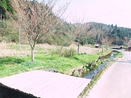 家の前には透きとおった川もあり