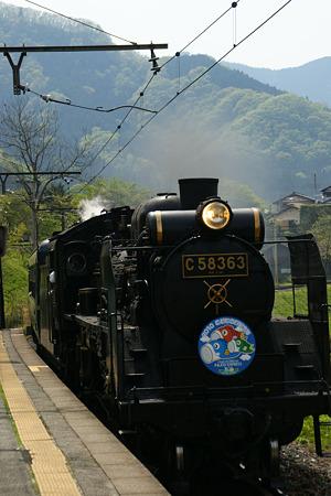 SL蒸気機関車到着!(100504)