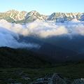 写真: 100722-46穂高連峰と槍ヶ岳