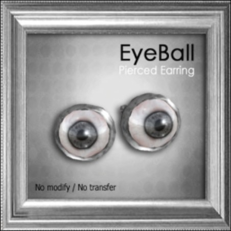 [ Love Soul ] Pierced Earring*Eyeball*Black