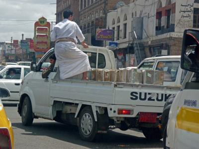イエメン 車とイエメン人