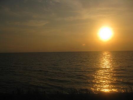 噴火湾の夕陽