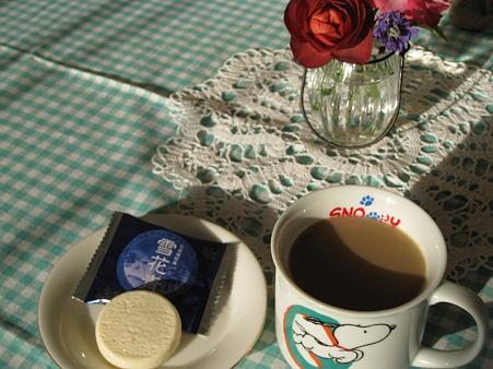 雪花青でコーヒータイム