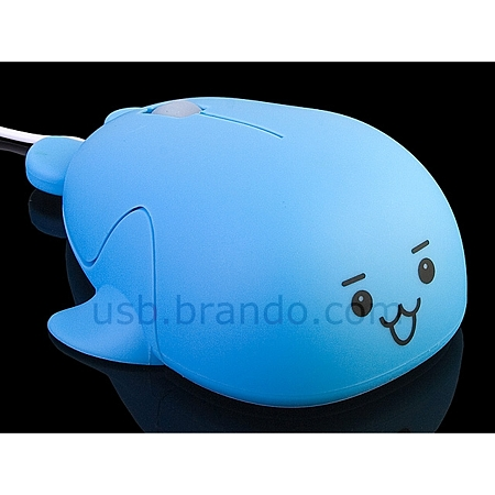 クジラ型USBマウス2