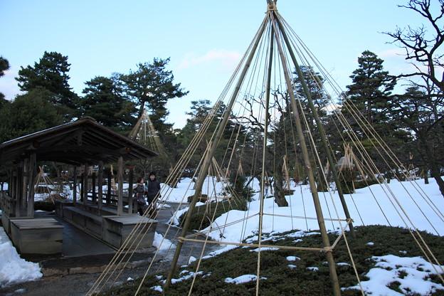 兼六園 舟の御亭 雪つり