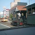 市内電車と坊っちゃん列車