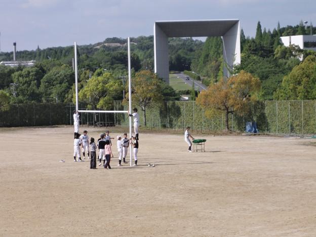 長男の練習試合観戦