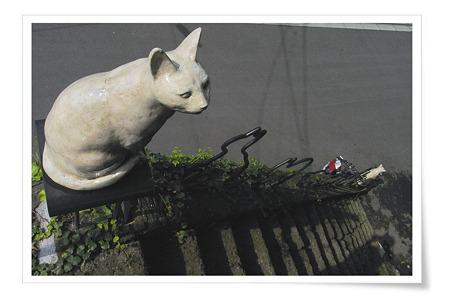 猫待ちの階段