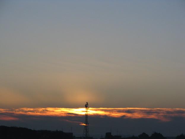 朝陽の輝きが