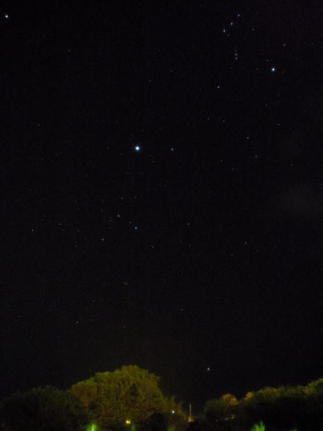 与論島で撮った冬の星空(カノープス)